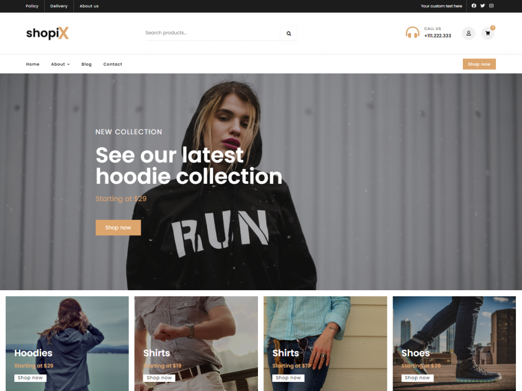 Shopix WP theme